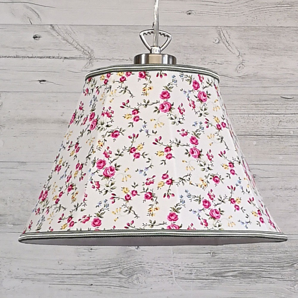 Retro Lampshade Pink & Green